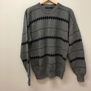 Claiborne pullover 100% cotton gray sweater XL
